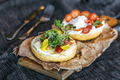 Delicious sandwich of bread,cream cheese vegetable and strawberries - PhotoDune Item for Sale