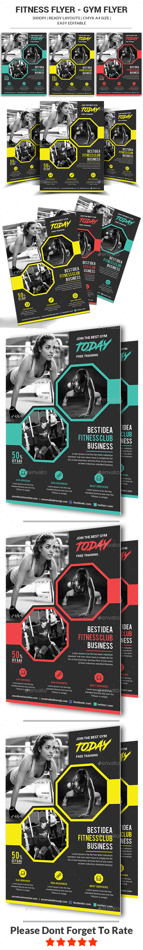 GraphicRiver Fitness Flyer 21152825