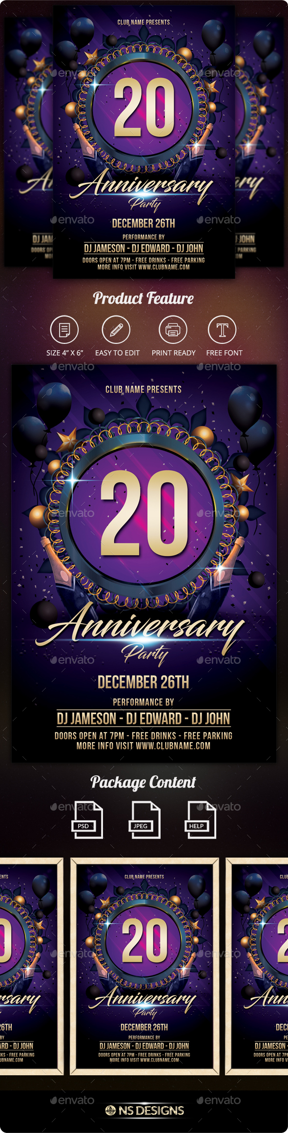 GraphicRiver Anniversary Flyer 21152942