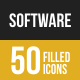 50 Software Development Filled Low Poly Icons
