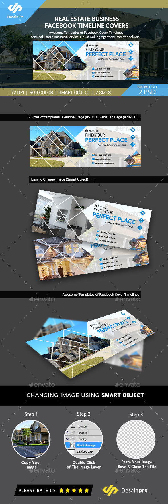 GraphicRiver Real Estate FB Cover Timeline Template AR 21153085