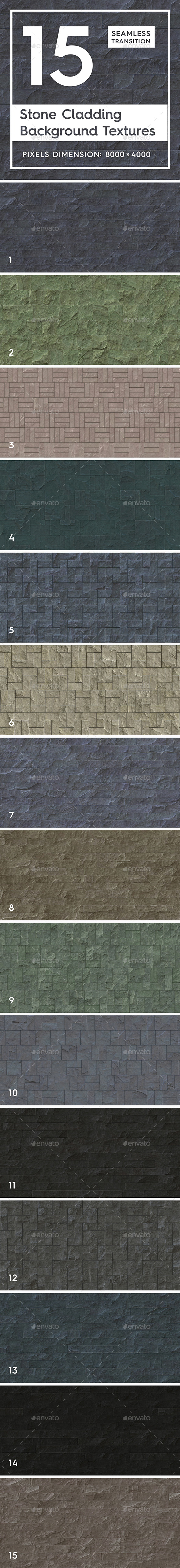 GraphicRiver 15 Seamless Stone Cladding Textures 21153113