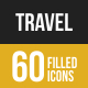 60 Travel Filled Low Poly Icons