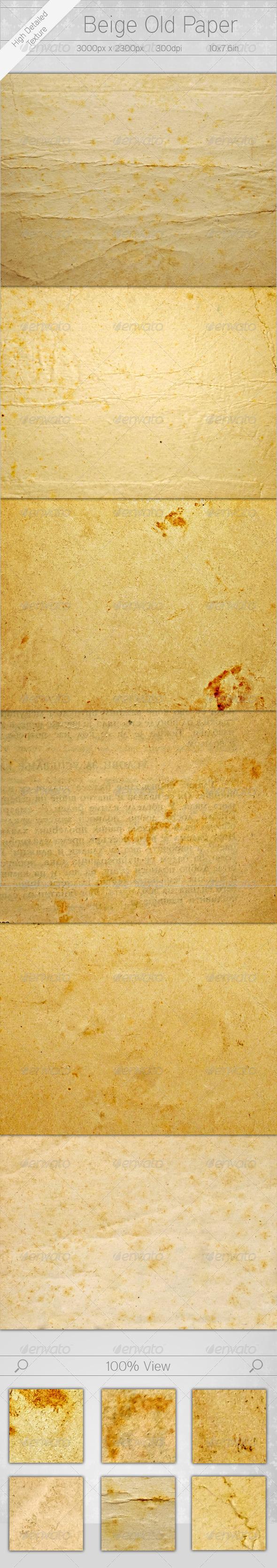 Beige Old Paper - Paper Textures