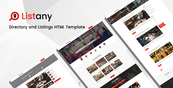 ThemeForest Listany Directory and Listings PSD Template 21153185