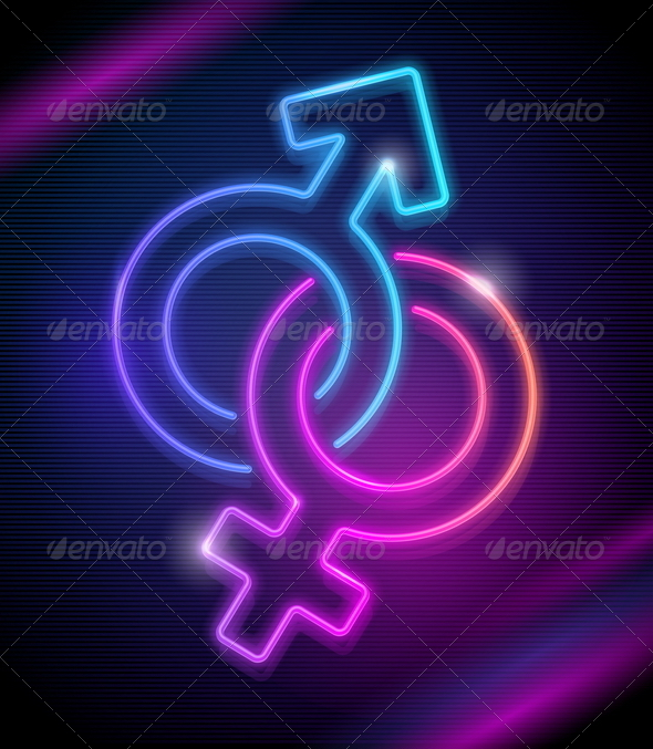 Venus And Mars Neon Sings By Sergo Graphicriver