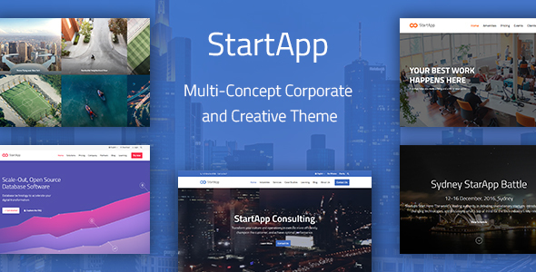 StartApp - Multi-Concept Corporate And Creative Theme - Business Corporate
