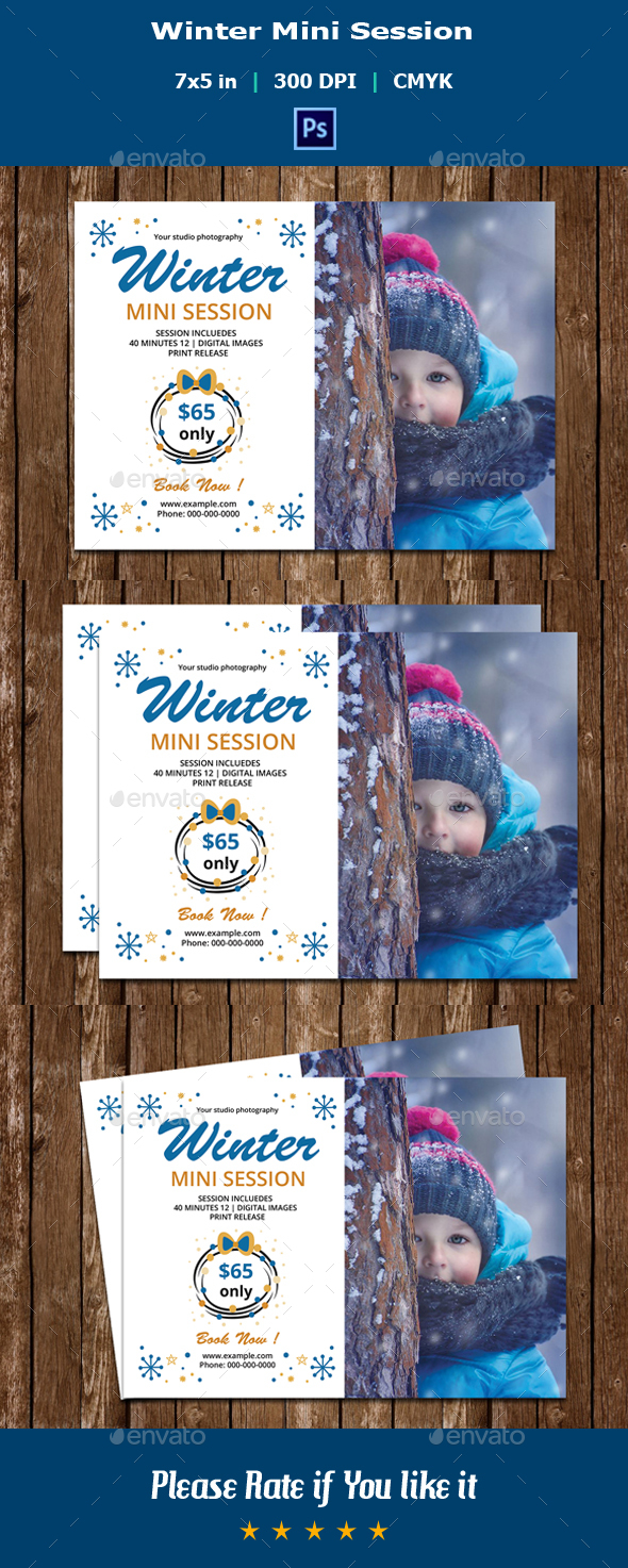Winter Mini Session Template V06 - Events Flyers