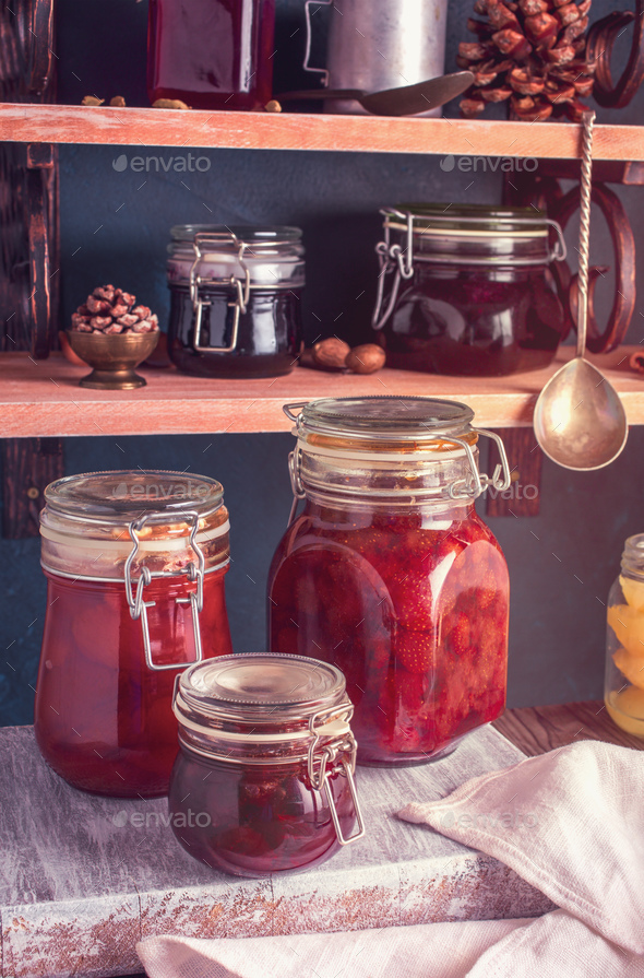 Homemade jam closeup - Stock Photo - Images