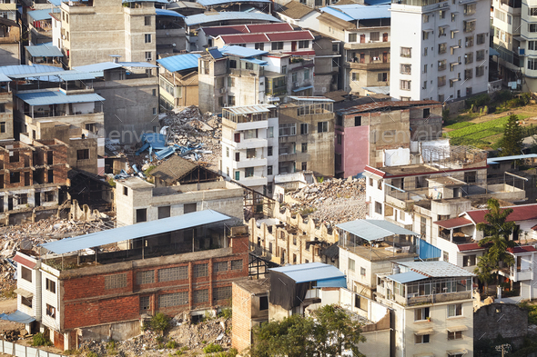 Guilin city old residential district, Guangxi, China. - Stock Photo - Images