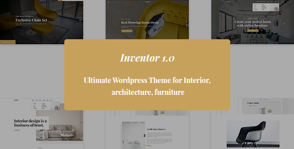 ThemeForest Inventor- Architechture and Furniture Interior HTML5 Template 21153578