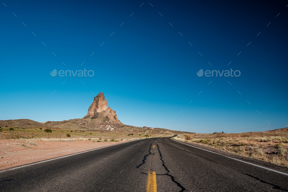Empty scenic highway in Arizona - Stock Photo - Images