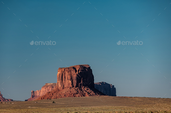 Rock formations in Monument Valley - Stock Photo - Images