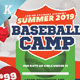 Baseball Camp Flyer Templates