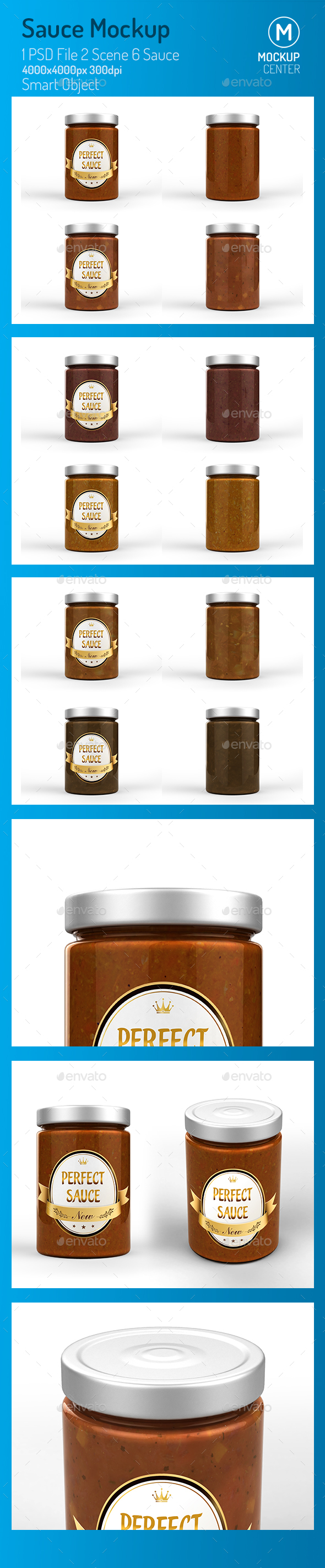 Sauce Jar Mockup - Product Mock-Ups Graphics