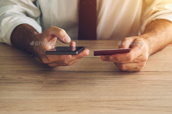 Credit card and mobile payment - Stock Photo - Images