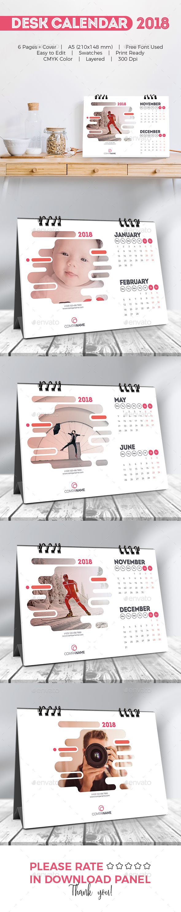 Creative Desk Calendar 2018 - Calendars Stationery
