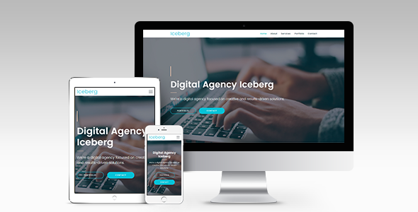 Iceberg - Digital Agency Responsive Muse Template