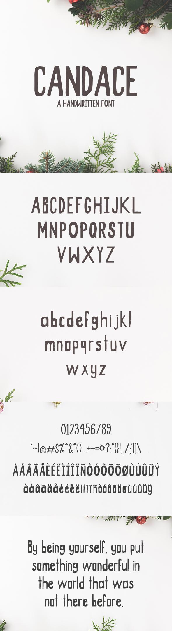 Candace A Handwritten Font - Hand-writing Script