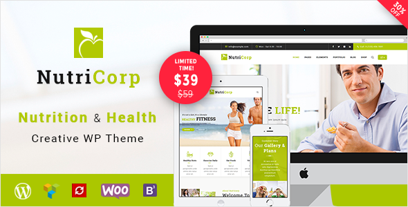 Nutricorp | Nutrition & Health Creative WordPress Theme - Health & Beauty Retail
