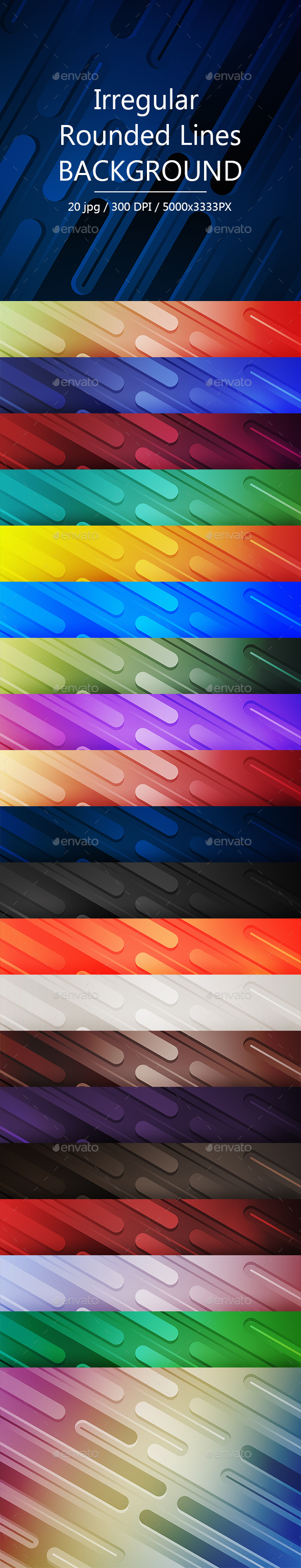 GraphicRiver Irregular Rounded Lines Backgrounds 21153932