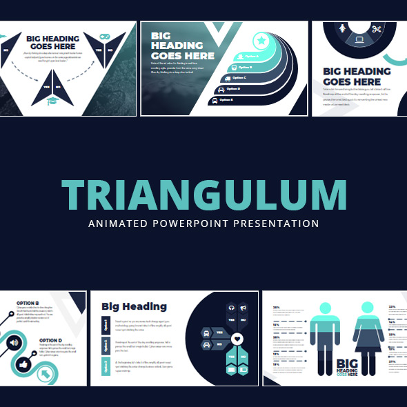 Triangulum - Animated PowerPoint Presentation - Creative PowerPoint Templates