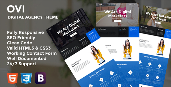 Download Ovi - Digital Agency Bootstrap Template            nulled nulled version