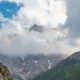 Clouds Above the Mountains in Sairamsu, Kazakhstan - VideoHive Item for Sale