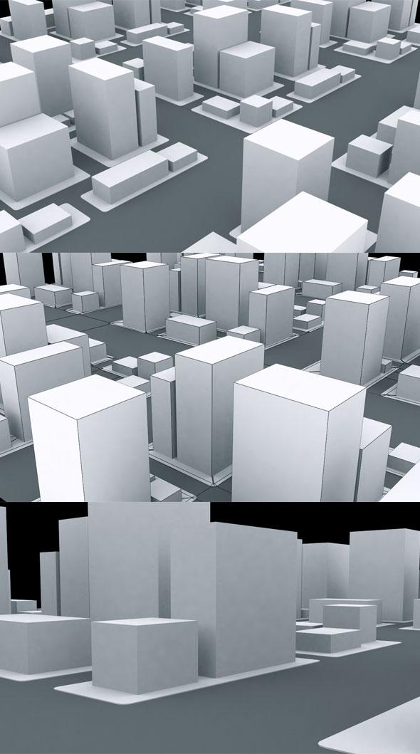 3DOcean Qube City Model 21154238
