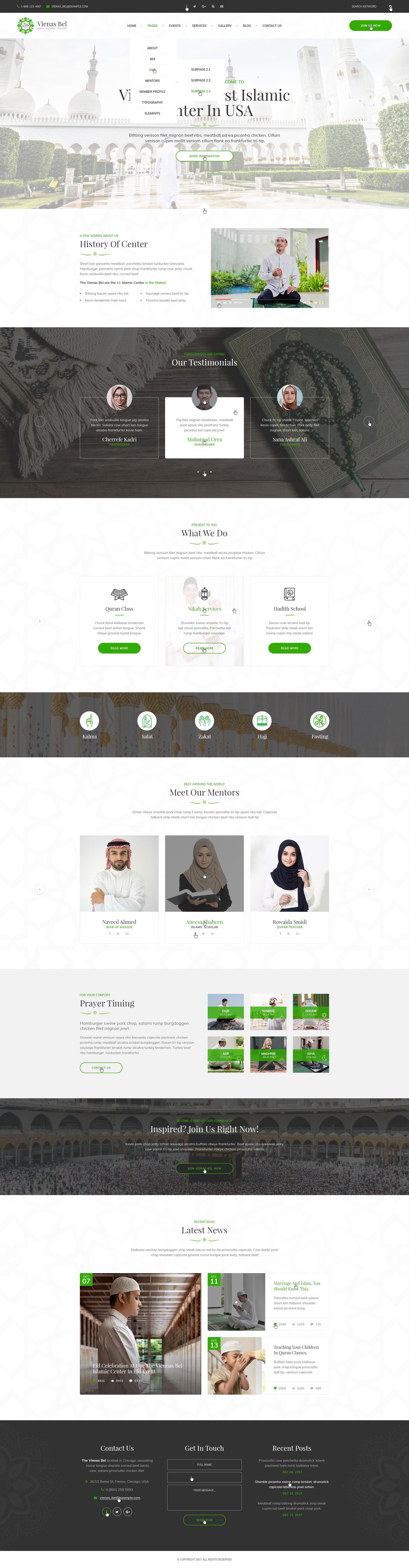 Merhaba - Islamic Center PSD Template by mwtemplates | ThemeForest