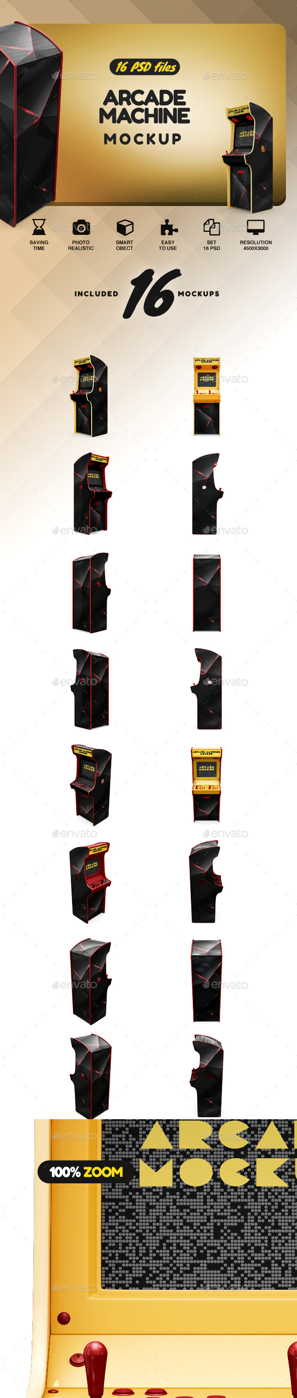 GraphicRiver Arcade Machine Mockup 21154344