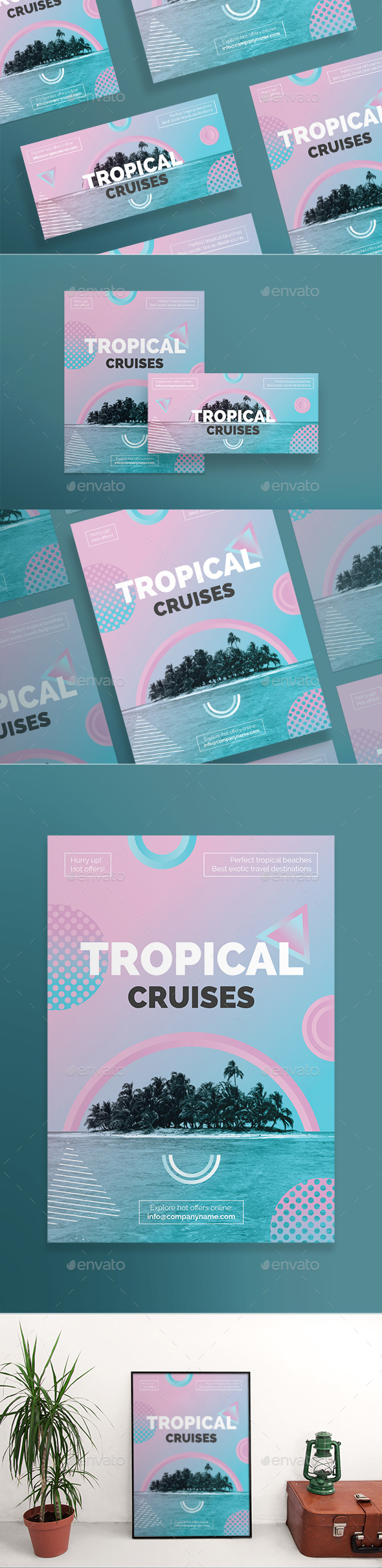 GraphicRiver Tropical Cruises Flyers 21154369