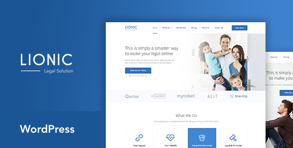 Lionic - Online Finance & Legal WordPress Theme