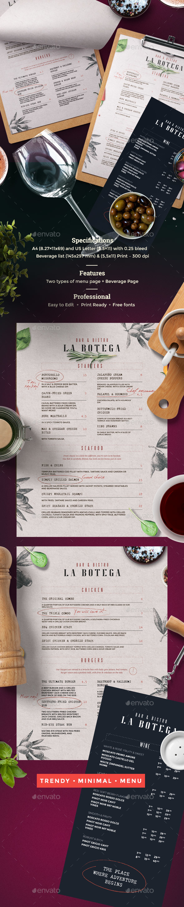 GraphicRiver Rustic Menu 21154577
