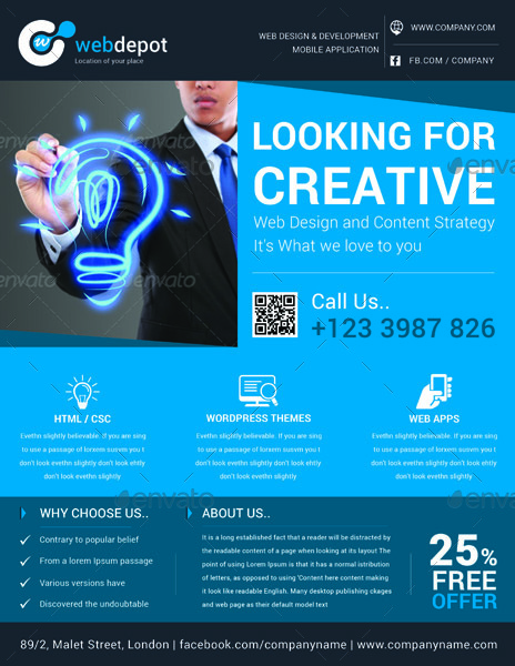 Web Design Flyer Template Volume 3 By Graphicshaper Graphicriver