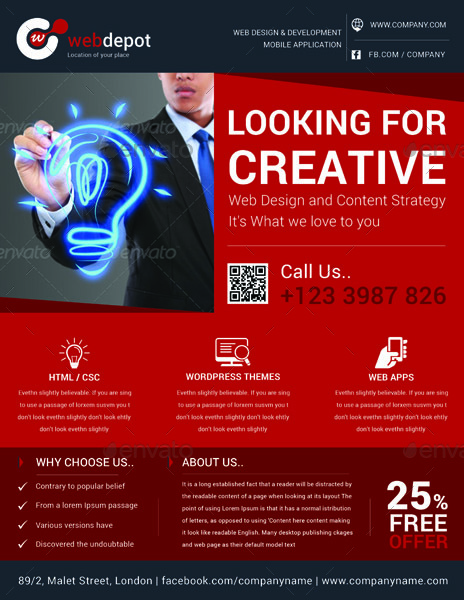 Web Design Flyer Template_Color_1 Web Design Flyer Template_Color_2  ...