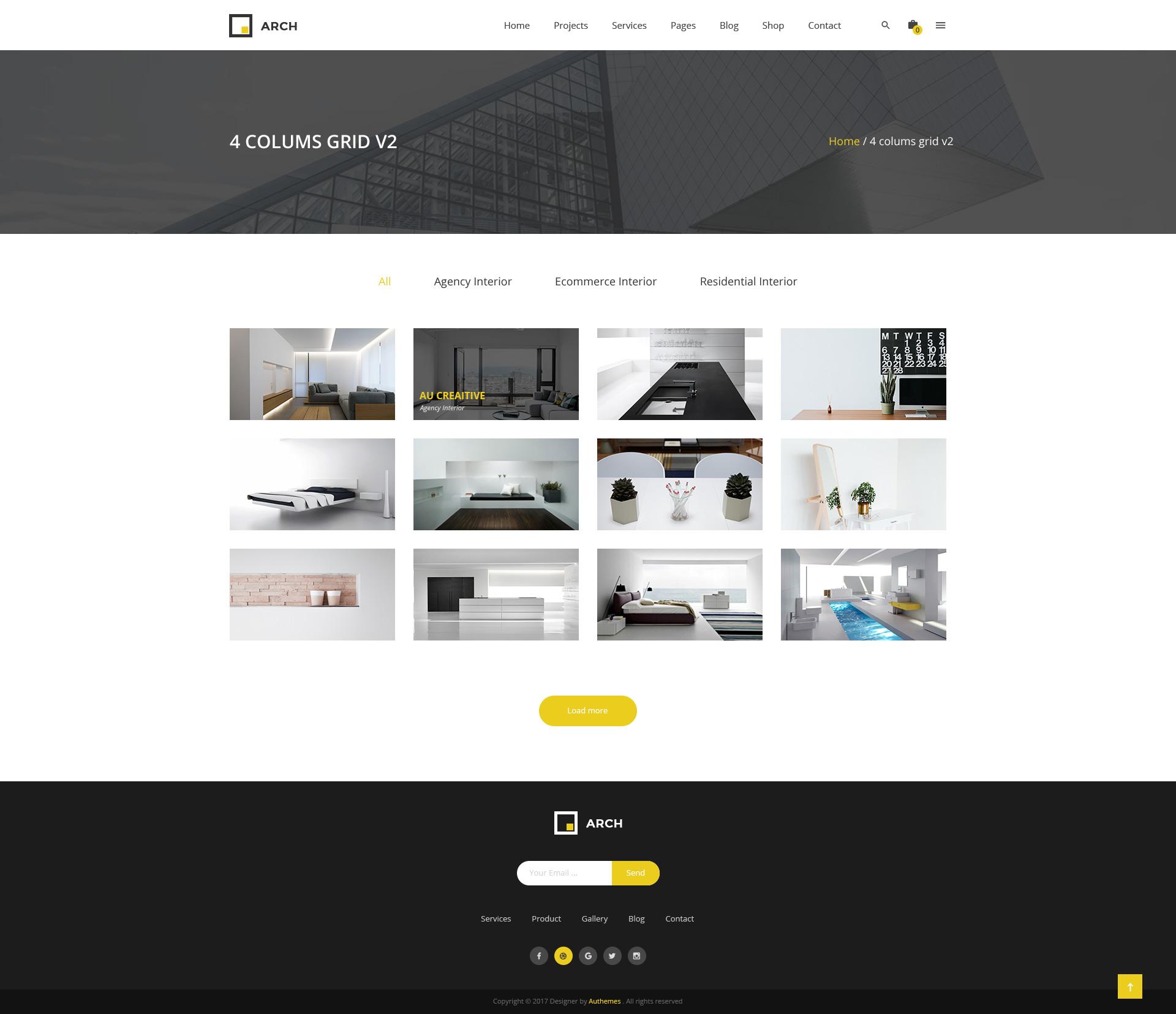 Arch Decor - Interior Design, Architecture and Building Business PSD ...
