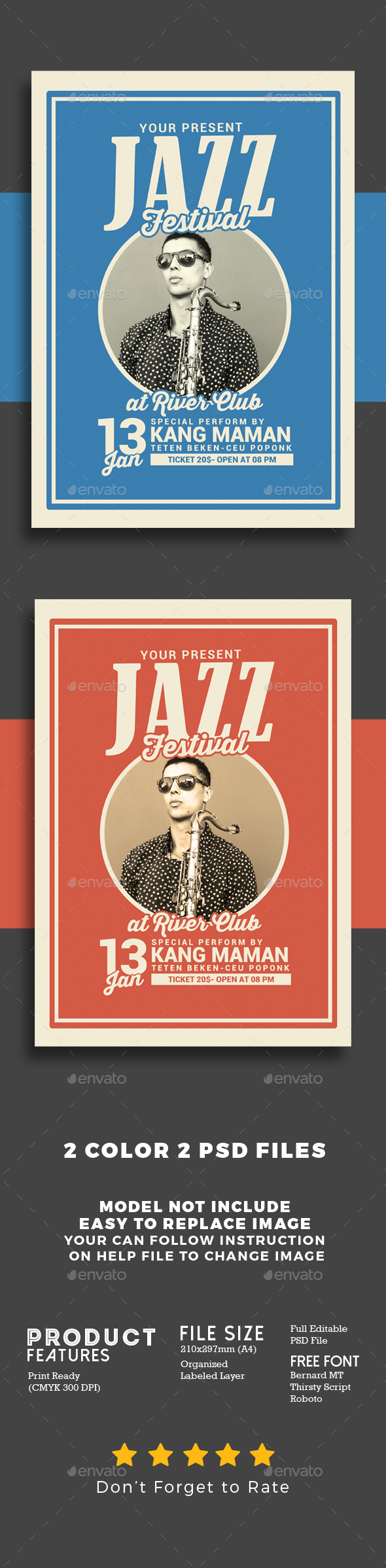 Jazz Music Festival - Events Flyers