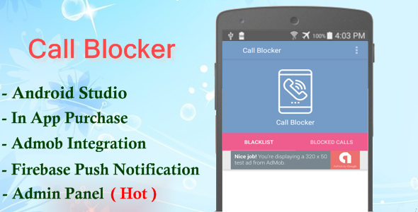 CodeCanyon Call Blocker Android Premium Application 21154885