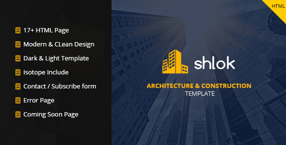 Shlok - Construction and Architect HTML Template - Business Corporate
