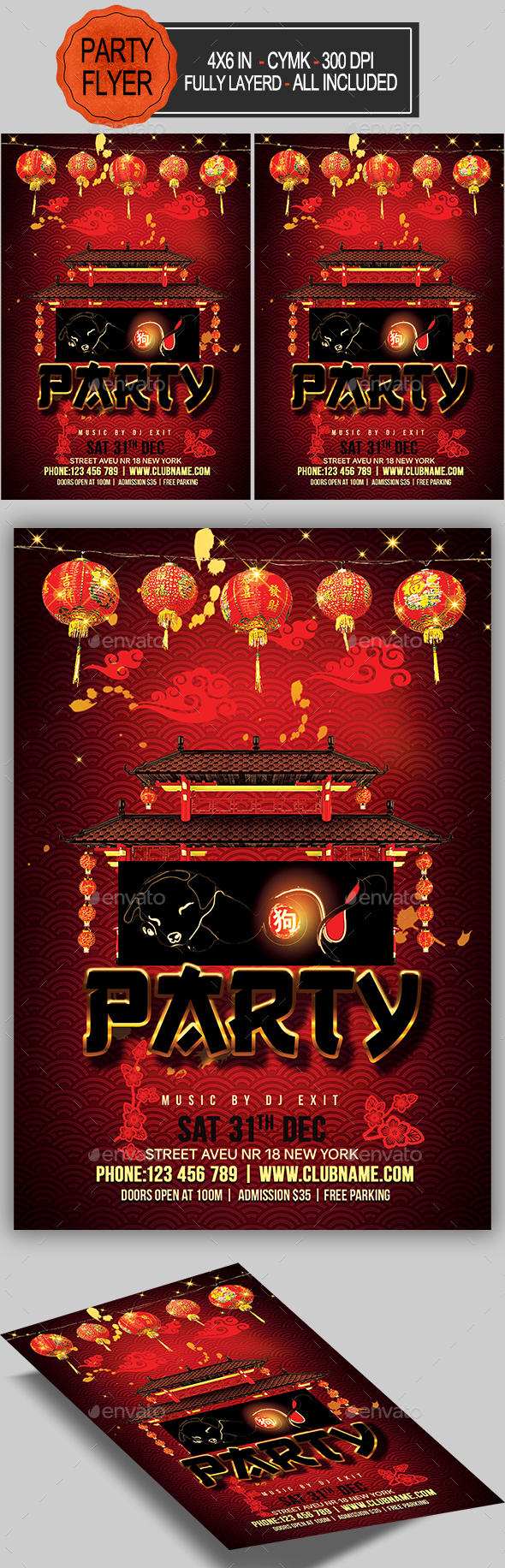 GraphicRiver Chinese New Year Party Flyer 21155103