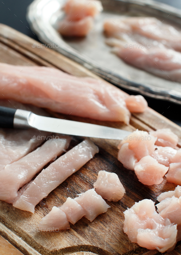 Raw chicken fillet - Stock Photo - Images