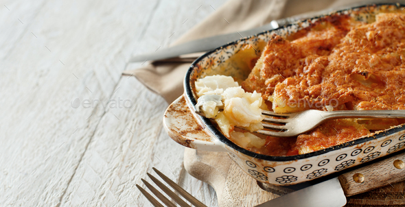 Codfish with potatoes - Stock Photo - Images
