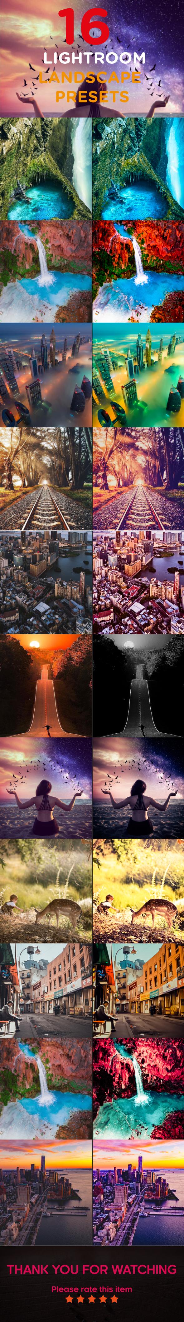 GraphicRiver 16 Lightroom Landscape Presets 21155177