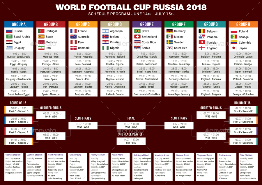football cup russia 2018 schedule 3 by rapidgraf