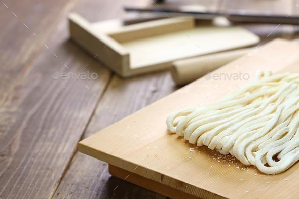 sanuki udon, japanese wheat noodles - Stock Photo - Images