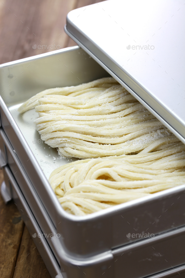 sanuki udon, japanese wheat noodles - Stock Photo - Images