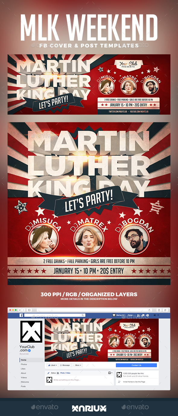 GraphicRiver MLK Facebook Cover 21155282