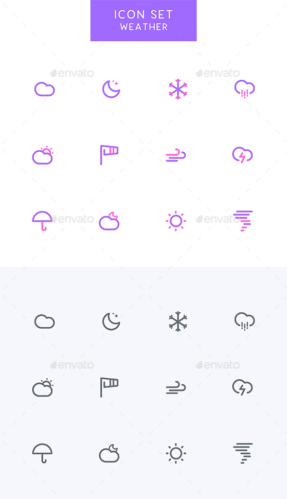 GraphicRiver Weather Climate Icons Set 21155301