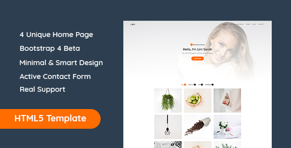 Download Light - Minimal Portfolio Template            nulled nulled version